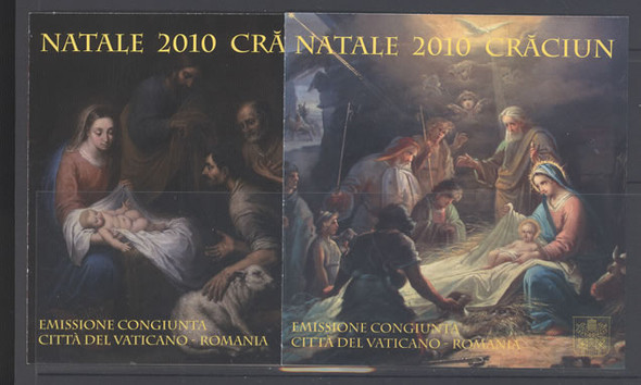 VATICAN- Christmas 2010 Jt with Romania Booklets- slef-adehsive(2)