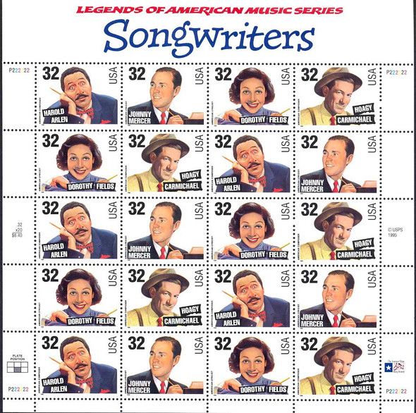 32c Song Writers (1996)