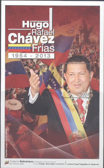 VENEZUELA (2013)- Hugo Chavez- souvenir sheet