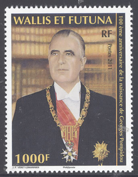 WALLIS AND FUTUNA- Georges Pompidou 100th Anniversary of Birth