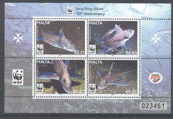 WWF Fish- Sheet of 4