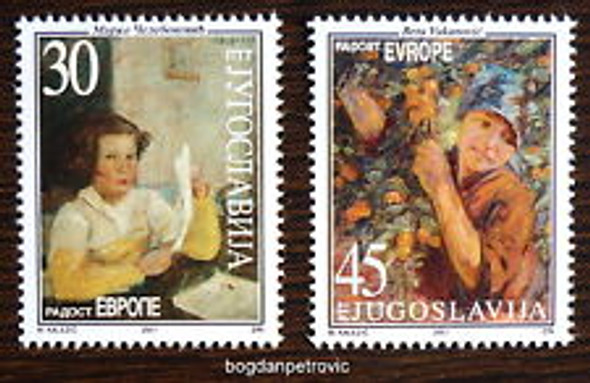YUGOSLAVIA (2001) Paintings , Children (2v)