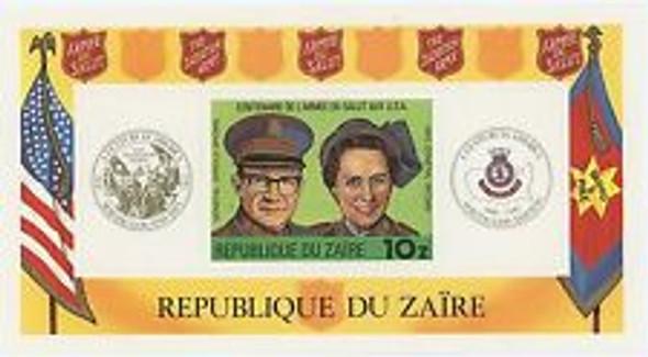 ZAIRE (1980) Salvation Army Centenary SS