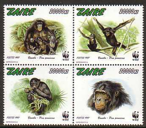 ZAIRE (1997) - WWF - Bonoba Monkeys (4)