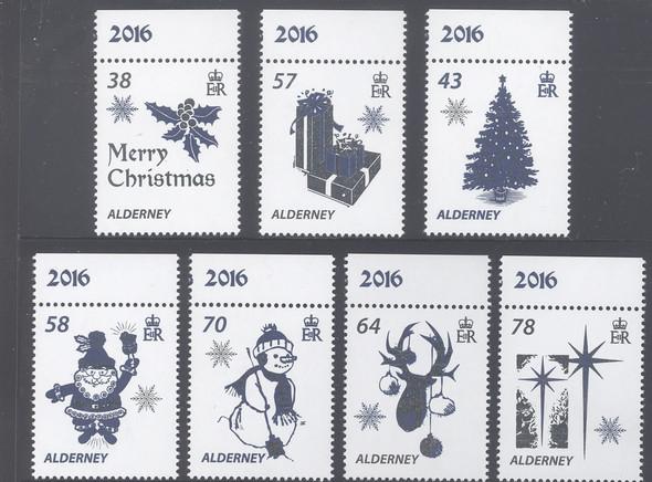 ALDERNEY- Christmas 2016- foils- star- holly- tree etc (7)