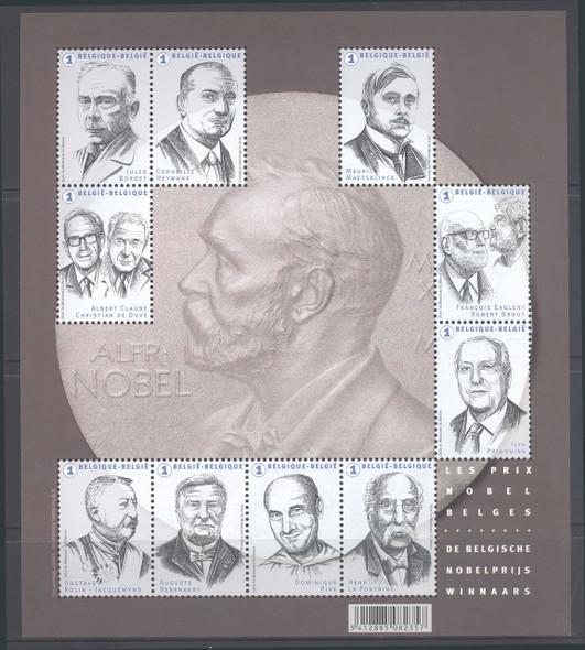 BELGIUM- Nobel Laureates- Sheet of 10