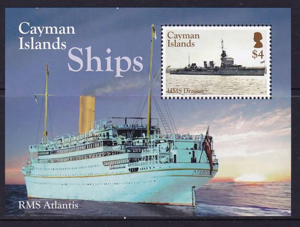 CAYMAN ISLANDS- Ships- souvenir sheet