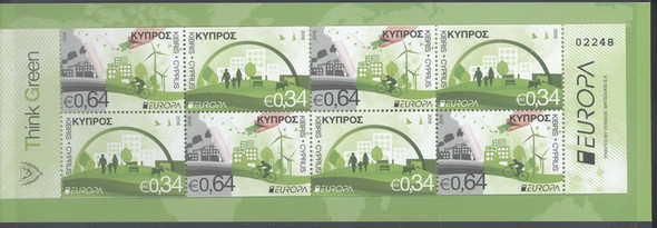 CYPRUS- Europa 2016 New Perf Booklet- one imperforated edge