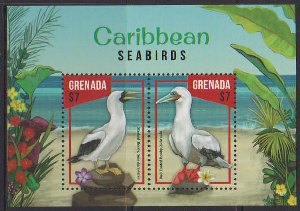 GRENADA- Caribbean Seabirds- Sht of 2- Booby- 1602