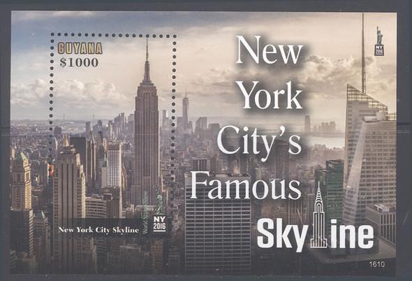 GUYANA (2017)-- NY Stamp Exhibit- souvenir sheet- skyline