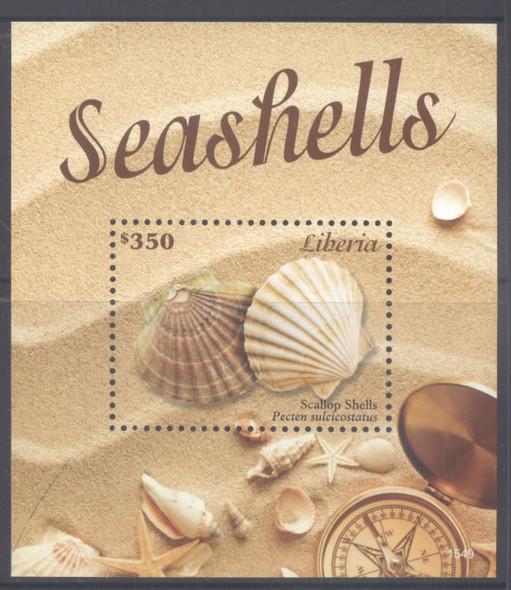 LIBERIA- Seashells 2015- souvenir sheet- 1549