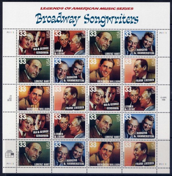 33c Broadway Songwriters (1999)