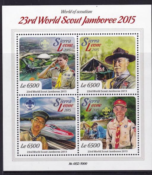 SIERRA LEONE- 23rd World Scout Jamboree 2015- Sheet of 4