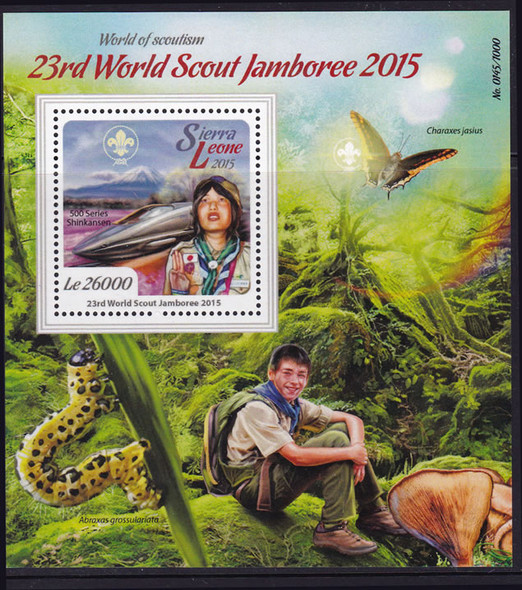 SIERRA LEONE- 23rd World Scout Jamboree 2015- souvenir sheet