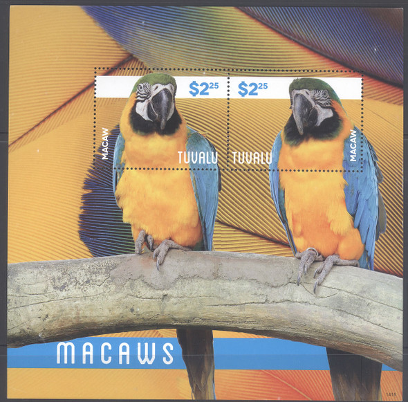 TUVALU- Macaws 2014 II- Sheet of 2