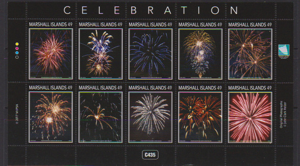 MARSHALL ISLANDS (2017) -CELEBRATIONS-  Fireworks Sheet of 10v