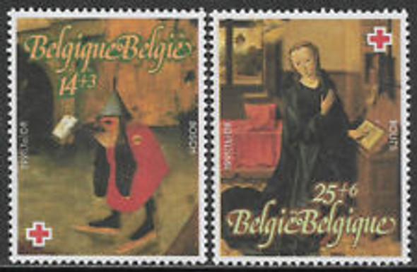 BELGIUM (1991) SC#B1096-7 Red Cross Religious (2v)