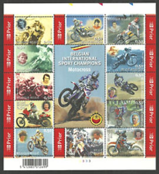 BELGIUM (2005) SC#2054 Motorcross Sheet