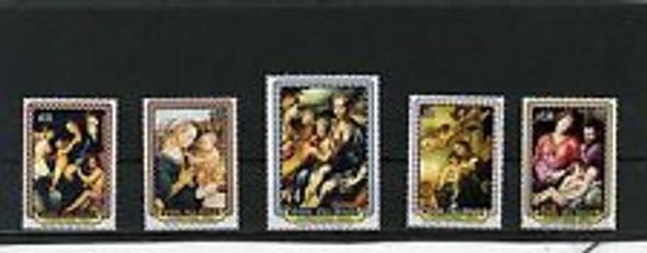 COOK ISLAND (1993) Christmas  ART,Religion (5v)
