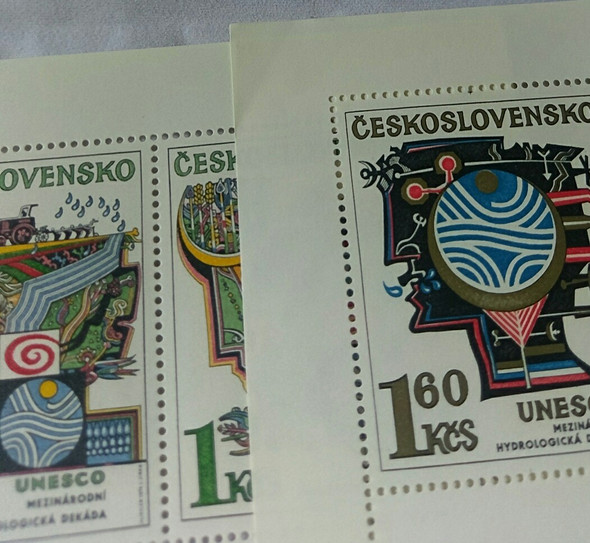 CZECHOSLOVAKIA UNESCO,Art Full Sheet Set