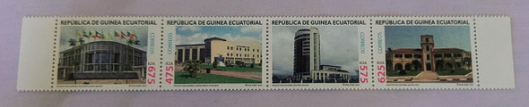 EQUATORIAL GUINEA (2011) Architecture Strip (4v)