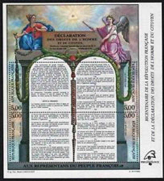 FRANCE (1989) SC#2168 Bicentennial French Revolution Sheet