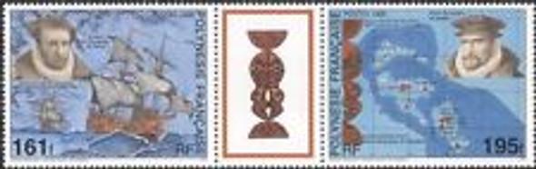 FRENCH POLYNESIA ( 1995) Discovery Marquesa Island,Maps,Ship,Explorers (2v)