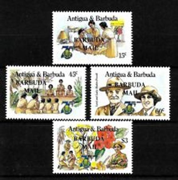 BARBUDA (1986^ SC#769-772 Girlguides ,Scouting (4v)