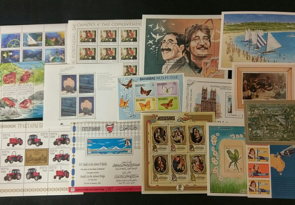 WORLDWIDE Tpical Sheet Souvenir Sheet Lot 85 Items Big Value !