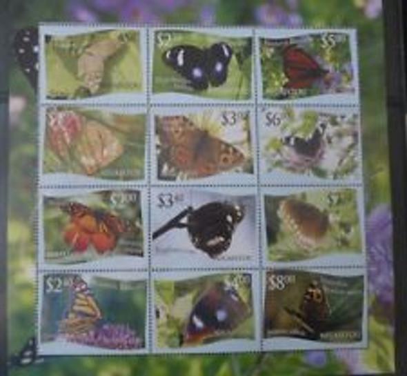 TONGA NIUAFOOU (2012) Butterlies Sheet Of 12
