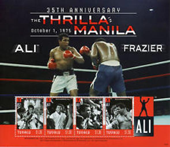 TUVALU (2013) Boxing, Ali, Frazier,Manilla Sheet