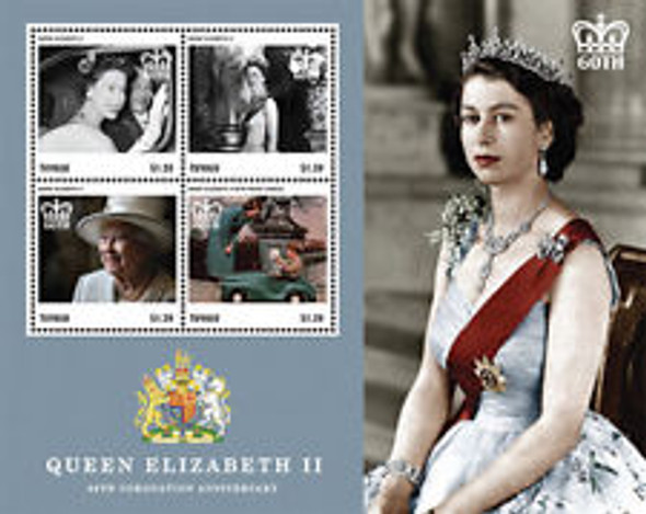 TUVALU (2015) QE Coronation Anniversary Sheet