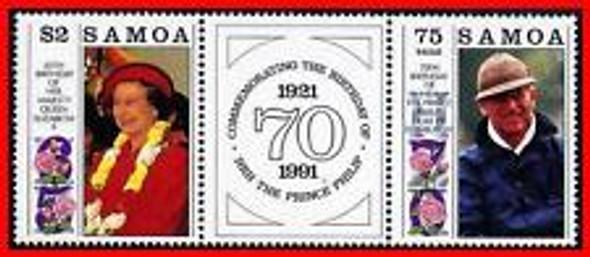 SAMOA (1991) Royal Birthdyas,Queen E,Prince Phillip (2v)