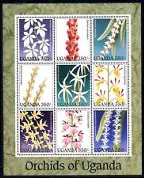 UGANDA (1995) Orchid Sheet