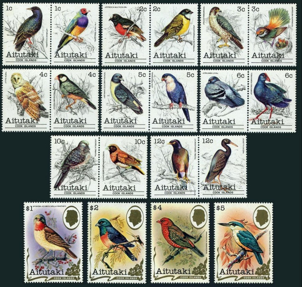 AITUTAKI (1981) -Bird Definitive Set of 36 values- SCV=$84!