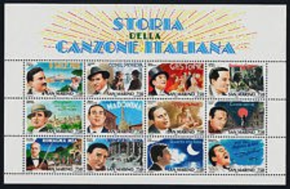 SAN MARINO (1996) Movie Stars Sheet Of 12