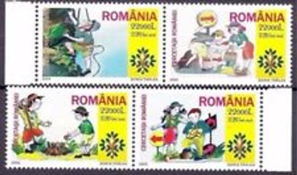 ROMANIA (2005) Girl,Boy Scouts (4v)