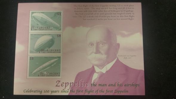ST VINCENT (2000) Transportation, Zeppelin Sheet