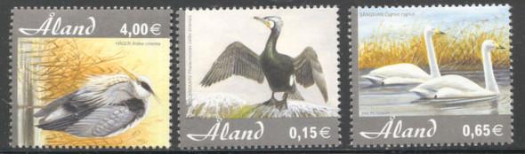 ALAND (2005) Birds - Swan, Heron, etc.- 3 values