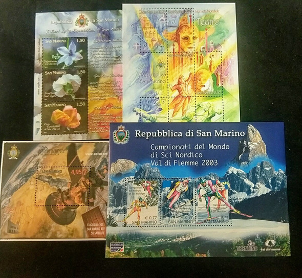 SAN MARINO Lot Of Sheets and SS, Our Original Retail $ 84
