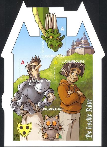 LUXEMBOURG (2011)- De Leschte Ritter Cartoon- Dragon, Knight, etc.