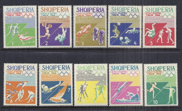 ALBANIA (1964) -Tokyo Olympics Imperforated Set of 10v
