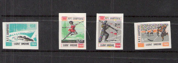 ALBANIA (1964)- WINTER SPORTS IMPERFORATED SET-SCV=$90!