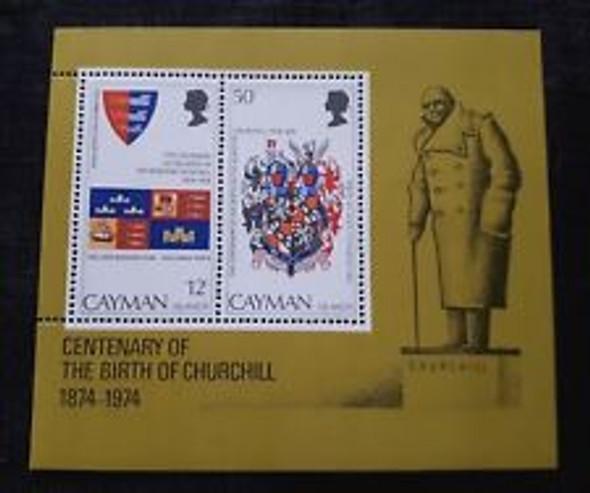 CAYMAN ISLANDS (1974) SC#353a Churchill Centenary SS