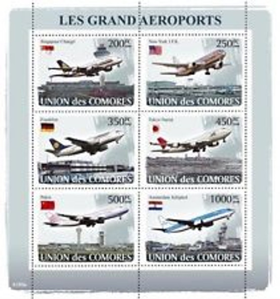COMORES (2008) Aviation,Airports Sheet