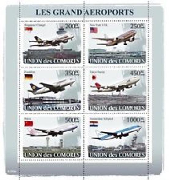 COMORES (2008) Aviation,Airports Sheet