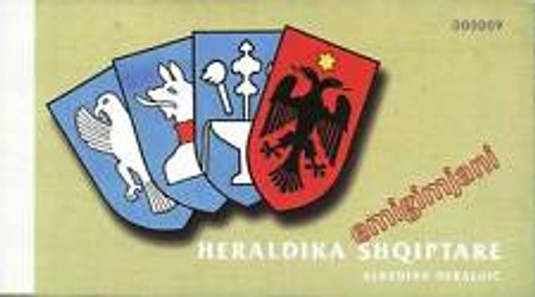 ALBANIA Booklets ,2 Coat Of Arms,Heraldry Our Original  Retail $60