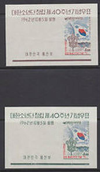 KOREA (1962) Scouting Sheets (2)