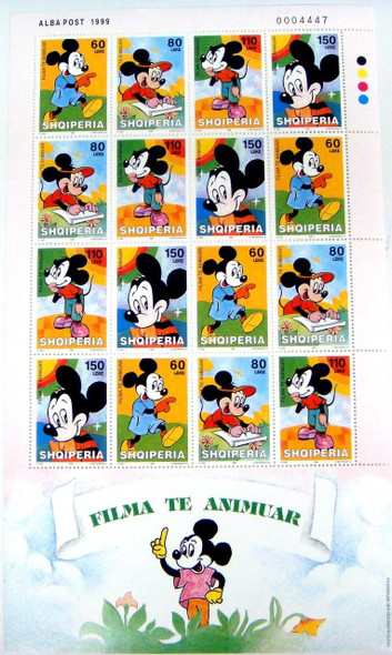 Disney Mickey Mouse Stamps - Stamp Set of 16
