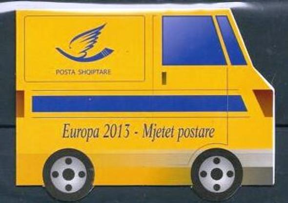ALBANIA: Europa 2013 Postal Vehicles Booklet